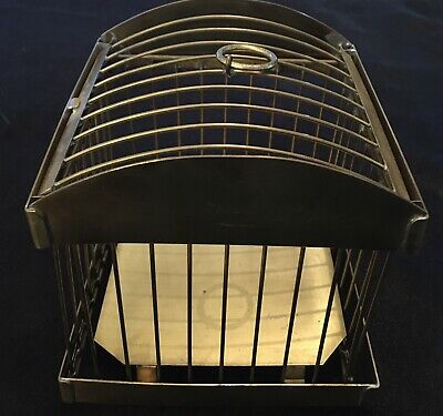 Vintage Magic Trick - Brass Production Cage Possible Lindhorst Or Hoffmann
