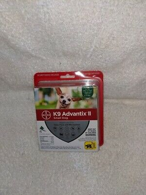 BrandNew Bayer K9 Advantix II Flea & Tick Treatment for Small Dogs  4 Pack /Dose