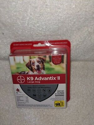 BrandNew Sealed K9 Advantix II Large Dog, 21-55 Lbs - 4 Pack