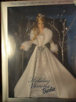 Holiday Visions Barbie Doll NRFB MIB wrapped in plastic