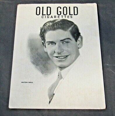 Milton Berle Orig Old Gold Cigarettes Store Countertop Display Sign