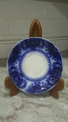 Vintage Flow Blue Saucer Florida Royal Pattern Fine Porcelain England