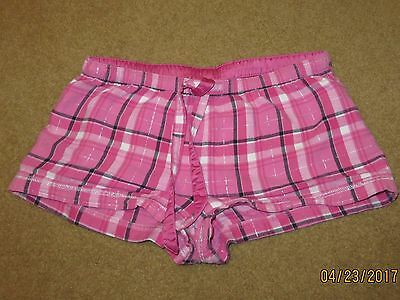 So Cotton Pink Plaid Sleep Shorts/Pants Size Small Junior