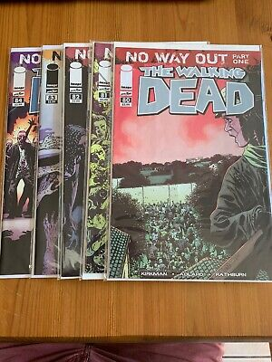 The Walking Dead #80-84 NO WAY OUT Comic Lot