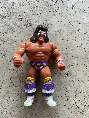 Wwe Wwf Hasbro Series 3 The Ultimate Warrior Purple Attire Wrestling Figure 1991