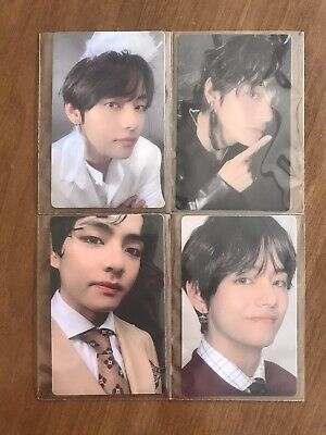 BTS Map Of The Soul : 7 Official Photocard TAEHYUNG TAE V SET of 4 All Version