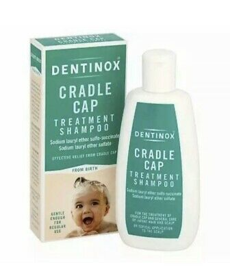 Dentinox Cradle Cap Treatment Shampoo Gentle from Birth, Infant Hair Scalp,125ml