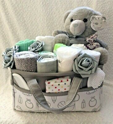 New Baby Caddy Hamper, baby shower, maternity gift, christening, new mum, basket