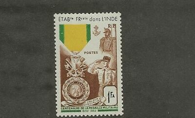 French India Sc# 233 Mlh Stamp