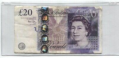 $20.00 Pound Bank Note , Bank Of England 2006