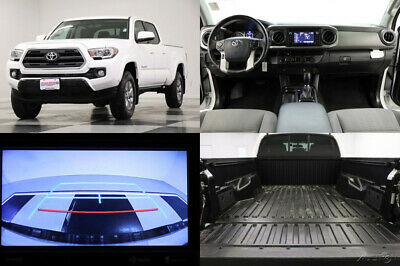 2017 Toyota Tacoma 4X4 SR5 V6 Camera Double Cab Super White 4WD Like New Bed Liner Bench Seats Power Options USB Used 18 19 2018 17 Extended
