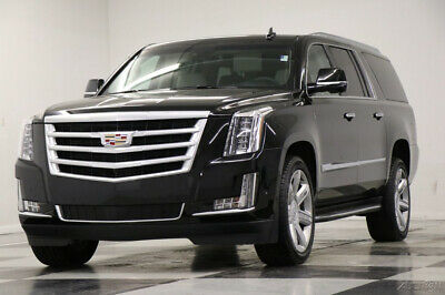 2019 Cadillac Escalade 4X4 Premium Luxury DVD Sunroof GPS Leather Black R Like New 6.2L ESV AWD Heated Cooled Seats Navigation Camera Captains 18 20 2018