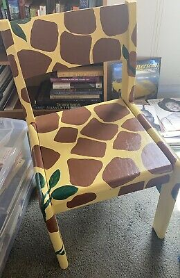 "hand painted chair ""Giraffe"""