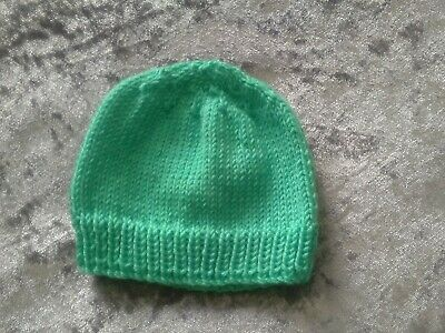 Brand new hand knitted  new born cotton hat