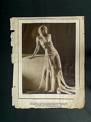Old Photo Clipping 8X11 - Carole Lombard American Actress Hollywood Ca In Ny Fl