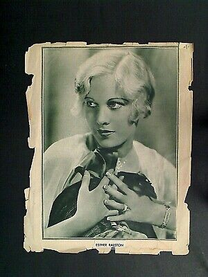 Old Photo Clipping 8X11 - Esther Ralston American Actress Hollywood Ca Me Ny Fl