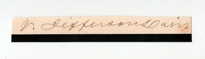 Varina Jefferson Davis Cut Signature