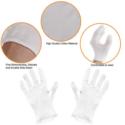 Thin Reusable Elastic 100%Cotton Work Gloves for Cosmetic Eczema Hand Spa Mitten