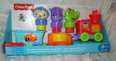 Fisher Price Silly Safari Rattle and Roll Animal Train NEW
