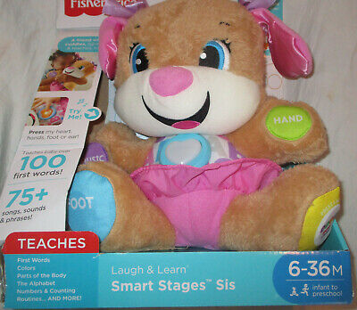 Fisher Price Laugh and Learn Smart Stages Sis Puppy NEW