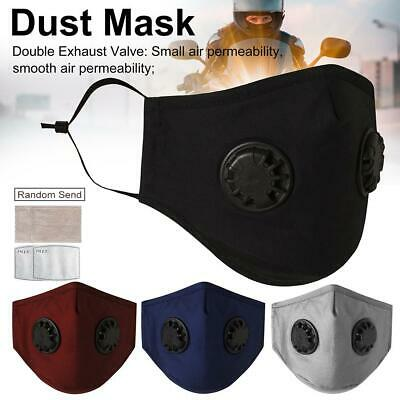 Washable Face Masks Shield Mouth Muffle Filters Cover Anti Dust Air Pollution