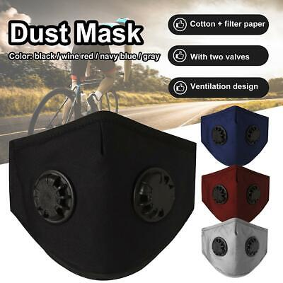 Washable Face Shield Mouth Muffle w/Filters Cover Anti Dust Air Pollution Masks