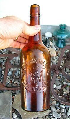 old THE WINEDALE CO. w/ mono Western WHISKEY bottle OAKLAND, CAL CA