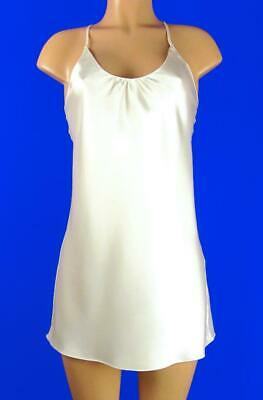 Victoria's Secret~Backless Satin Chemise Gown~Frosted White~S