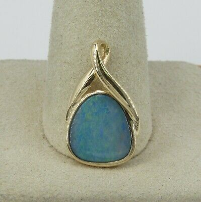 14k Yellow Gold Opal Pendant - 2.97 Grams