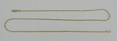 "AD 1mm Yellow Gold 20.25"" Byzantine Necklace - 4.84 Grams"