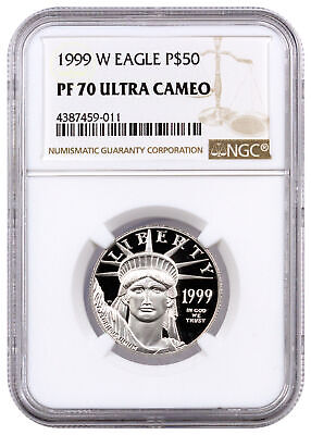 1999 W $50 1/2 oz Platinum American Eagle NGC PF70 UC Proof 70 Ultra Cameo Coin