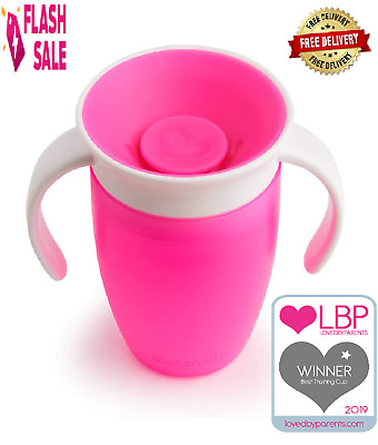 Baby Trainer Cup 360 Munchkin Miracle for Toddler from 6 months 207 ml, Pink