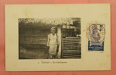 1914 French Equatorial Africa Gabon Congo Postcard N'gomo Cancel