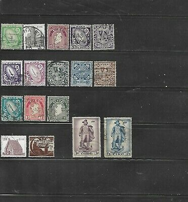 17 Different Used Ireland Stamps