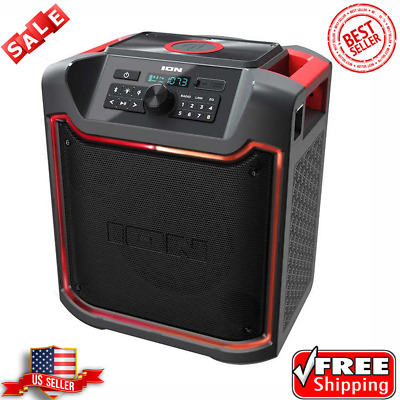 ION Pathfinder 4 Bluetooth Portable Speaker with Wireless Qi Charging 120 Watts