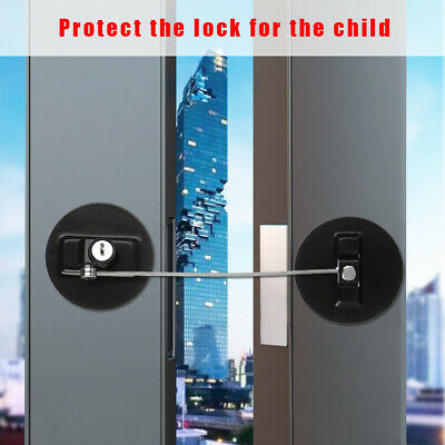 Child Cabinet Lock With-Key Door Stopper Baby Safety Lock Finger Protector