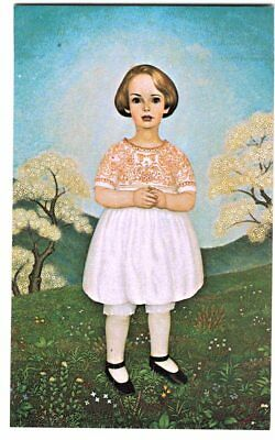 Postcard Celine Painting By Orland Campbell Daughter Of Johnnes Schiott Art Ex