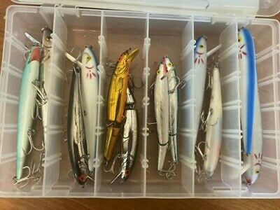 Mixed lot of Cotton Cordell lures, different colors and sizes 10 lures