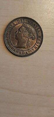 1893 AU High Grade CANADA LARGE CENT Victoria COIN CANADIAN <..