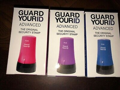 Guard Your ID Identity Theft Prevention Stamp ADVANCED Roller Combo 3-Pack