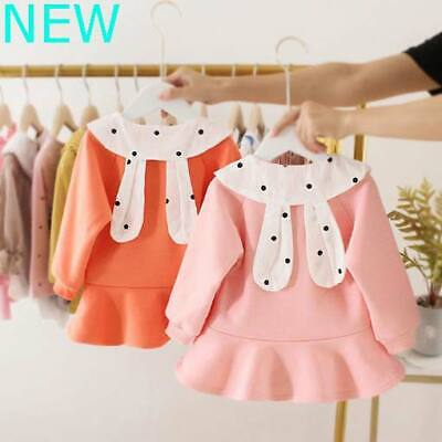 Casual Toddler Clothes Kid Warm Girl Padded Dresses Baby Dress Winter Floral