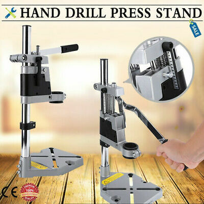 Adjustable Manual Drill Press Bench Stand Workbench Pillar Clamp Drilling Base