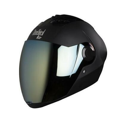 Steelbird Air Sba-2 Full Face Safety Helmet Matt Black with Extra visor Size-L