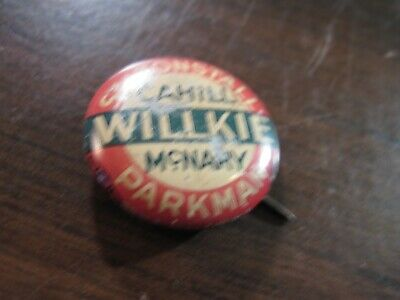 vintage  Willkie  campaign pin-
