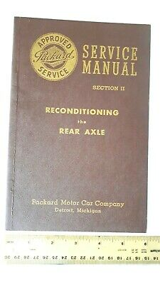 1948 PACKARD - Rear Axle Service Manual - B&W Catalog - Excellent Condtn- (US)