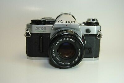 Canon AE-1 Program 35mm film SLR with Canon 50mm f/1.8 lens