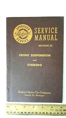 1949 PACKARD Steering/Susp Service Manual B&W Catalog -Excellent Condition- (US)