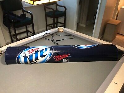 Miller Lite Pool Table Hanging Light Plastic Long Man Cave Light - NEW 51""
