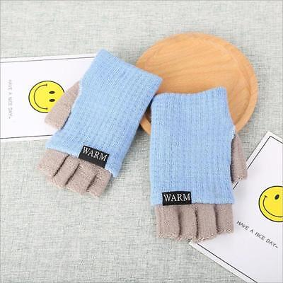 High Quality Fingerless Gloves Winter Gloves Freeze-Proofing Contrast Color 6T
