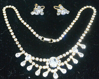 Necklace and earring set - vintage Viennese crystal by Cecile of Vienna